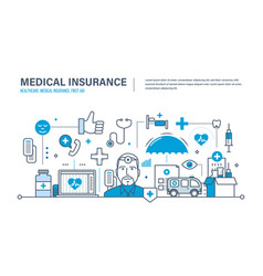 Medical insurance healthcare care first aid vector