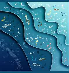 music background abstract cover design with notes vector image vector image