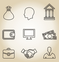 Outline business icon vector image vector image