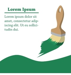Paint brush of repairman cartoon background vector image