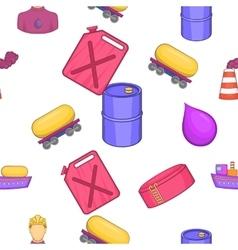 Petroleum pattern cartoon style vector