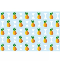 Pineapple fruit pattern vector