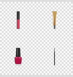 realistic contour style kit liquid lipstick vector image vector image