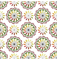 seamless pattern with leaves and berries vector image vector image