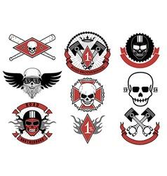 Set of biker badges and emblems vector