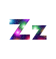 Set of letters firework Z vector image