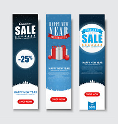 Set of vertical banners for christmas sales vector