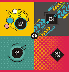 Set of web backgrounds vector