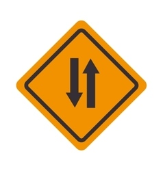 signal traffic pair arrows isolated vector image