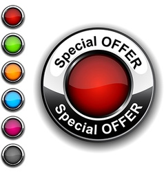 Special offer button vector image vector image