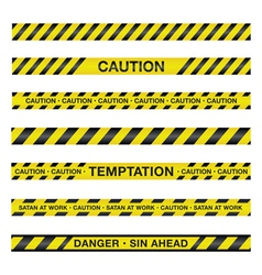 Spiritual Police Caution Tape vector image vector image