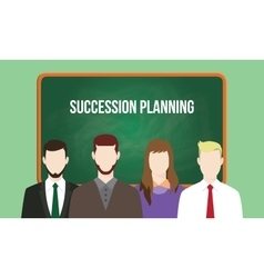 Succession planning concept in a team vector