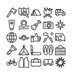 Summer and Travel Icons 3 vector image vector image