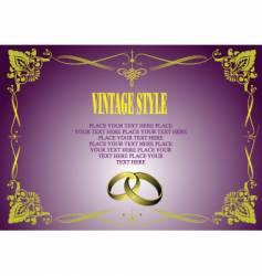 vintage style invitation card vector image
