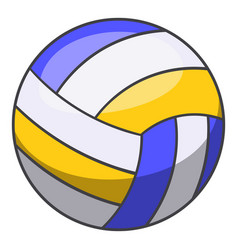 volleyball ball icon cartoon style vector image