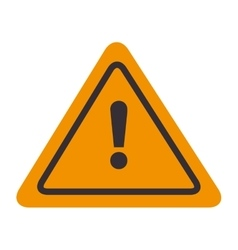 Signal attention warning yellow isolated vector