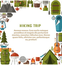 Hiking trip background vector