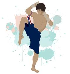 Thai boxing Muay Thai vector image