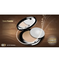 Modern face powder cosmetic vector