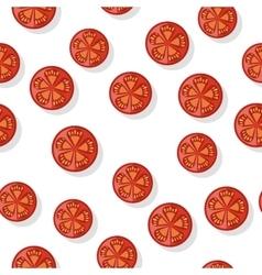 Round tomato slice isolated editable element vector