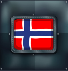 Norway flag in square frame vector