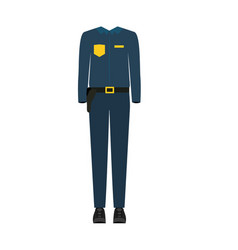 colorful silhouette with male uniform of policeman vector image