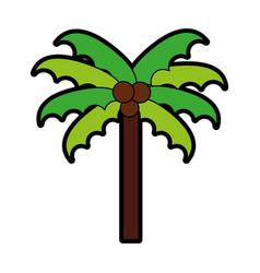 cute beach palm cartoon vector image