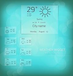 Weather widget template 2 vector image