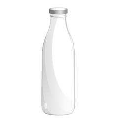 Milk glass bottle isolated icon vector