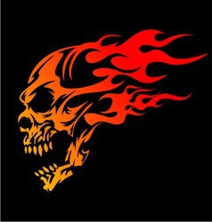 Burning skulls vector
