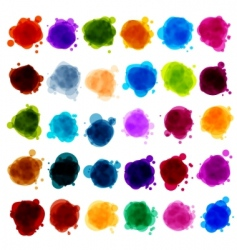 Paint splash design elements vector