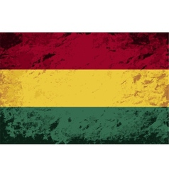 Bolivian flag grunge background vector