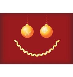 christmas smile vector image