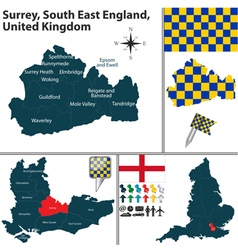 Surrey south east england vector