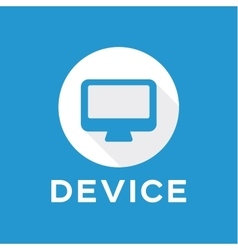 The device gadget icon logo monitor for flat style vector