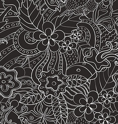 Black and white abstract psychedelic seamless vector image