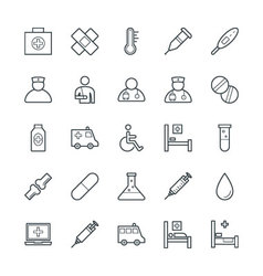 Medical and health cool icons 1 vector