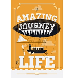 Inspirational retro poster design vector