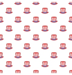 American hat pattern cartoon style vector image vector image