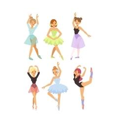 Ballerina dancer girl vector image vector image