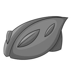 Bicycle protective helmet icon monochrome style vector