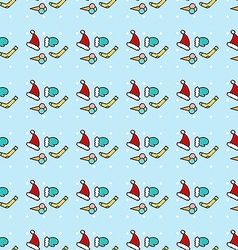 Blue Christmas pattern vector image vector image