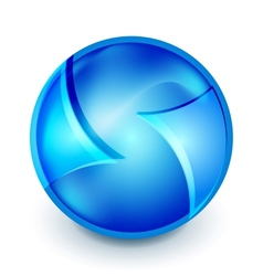 Blue hi-tech globe symbol vector image