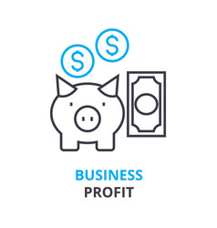 business profit concept outline icon linear vector image vector image