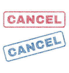 Cancel textile stamps vector