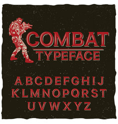 Combat typeface poster vector