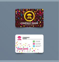 Complete family insurance icon umbrella symbol vector