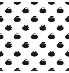 Curling stone pattern vector