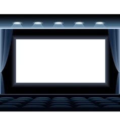 Dark cinema hall vector