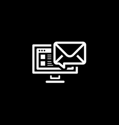 e-mail marketing icon flat design vector image